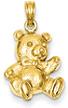 14K Gold Teddy Bear Pendant