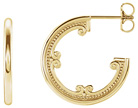 14K Gold Vintage Inspired Hoop Earrings