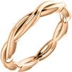 14K Rose Gold Braided Infinity Wedding Band Ring