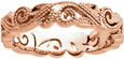 14K Rose Gold Paisley Bead Swirl Band for Women