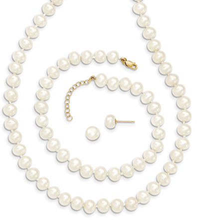 Cultured Freshwater Pearl Set in 14K Gold