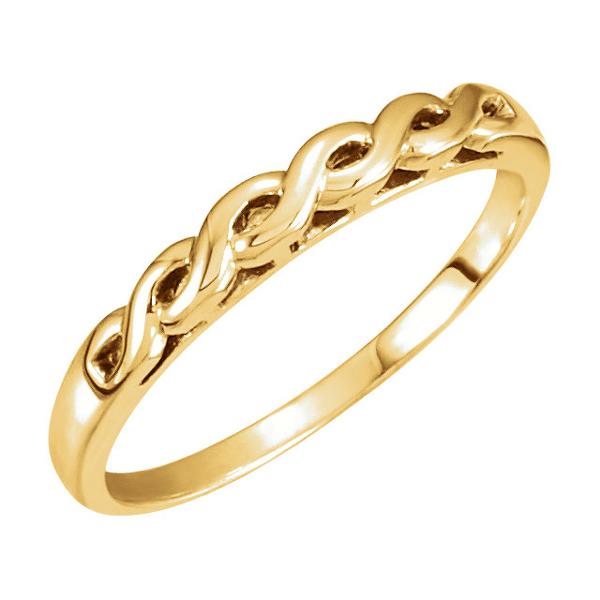 14K Yellow Gold Infinity Braid Wedding Band
