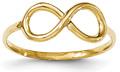 14K Gold Infinity Symbol Ring