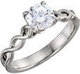 Platinum Infinity Knot Diamond Engagement Ring