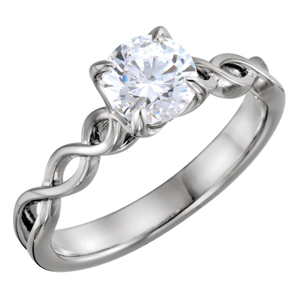 CZ Infinity Knot Engagement Ring