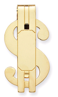 Buy Gold Plated Dollar Sign Money Clip