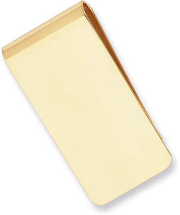 Gold Plated Polished Rectangle Money Clip
