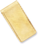 Gold Plated Swiss-Cut Edge Money Clip