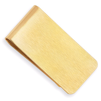 Gold Plated Satin Finished Money Clip