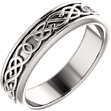 Men's Platinum Celtic Pretzel-Knot Wedding Band