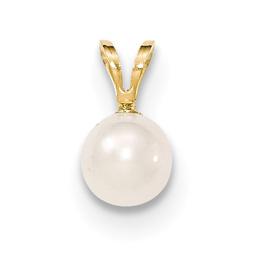 Cultured Akoya Pearl Pendant, 14K Gold