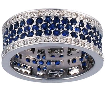 2 Carat Sapphire and Diamond Eternity Band