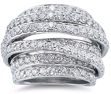 4.75 Carat Diamond Wrap Ring in 14K White Gold