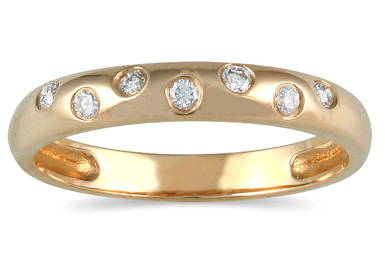 Seven Sparkles Diamond Band in 14K Yellow Gold