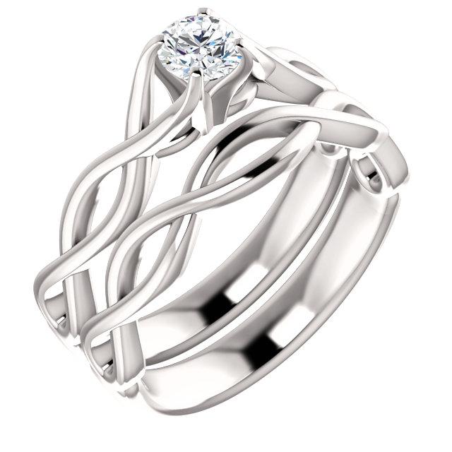12 Carat Diamond Infinity Symbol Engagement Ring
