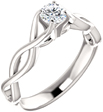 1/2 Carat Diamond Infinity Symbol Engagement Ring