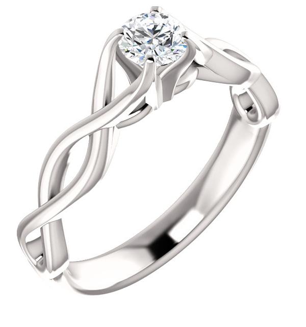 1/2 Carat Diamond Infinity Symbol Engagement Ring