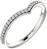 Diamond V Ring in 14K White Gold