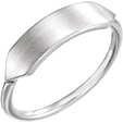 Engraveable Bar Ring, 14K White Gold