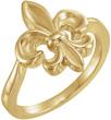 Fleur-de-Lis Ring for Women in 14K Yellow Gold