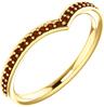 Garnet V Ring in 14K Yellow Gold