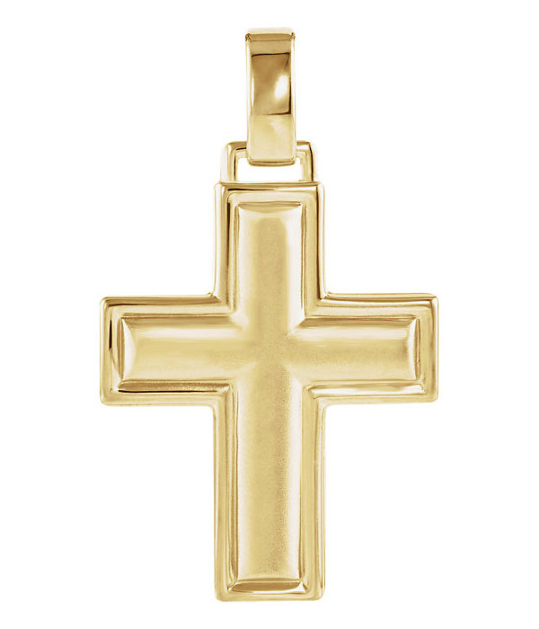 God's Grace 14K Gold Cross Necklace for Women