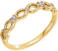 Infinity Inspired Diamond Band, 14K Yellow Gold