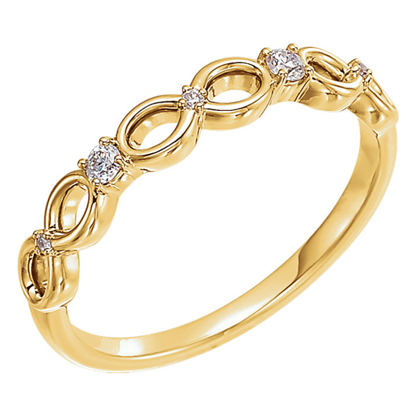 Infinity Inspired Diamond Band, 14K Yellow Gold