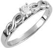 1/4 Carat Diamond Infinity Knot Engagement Ring