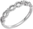 Infinity Symbol Diamond Band, 14K White Gold