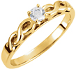 0.25 Carat Infinity Symbol Engagement Ring, 14K Gold