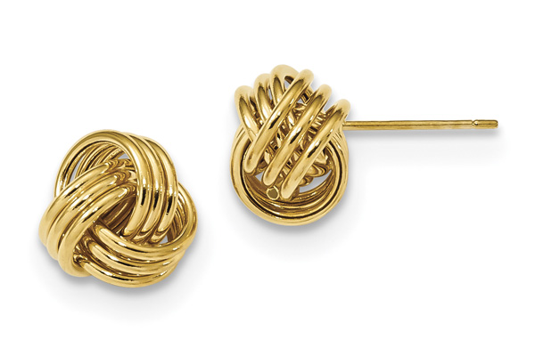 Italian 14K Gold Love-Knot Earrings