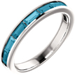 London Blue Topaz Baguette Band, 14K White Gold