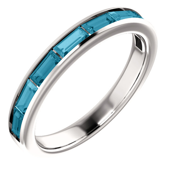 London Blue Topaz Baguette Band