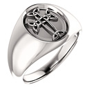 Sterling Silver Men's Celtic Cross Ring