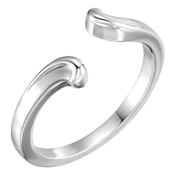 Open Shank Bypass Ring in 14K White Gold
