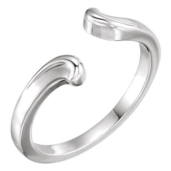 Open Shank Bypass Ring in 14K White Gold