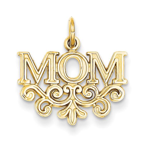 Paisley Mom Pendant, 14K Gold