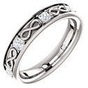 3/4 Carat Princess-Cut Diamond Infinity Symbol Wedding Band Ring