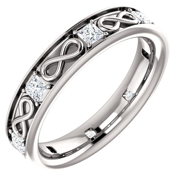 infinity symbol wedding ring