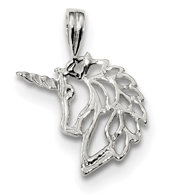 Sterling Silver Unicorn Head Charm Pendant