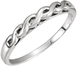 Woven Infinity Wedding Band Ring, 14K White Gold