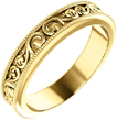 Paisley Pattern Wedding Band Ring in 14K Yellow Gold
