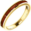 14K Yellow Gold Mozambique Baguette Garnet Band