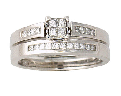 Buy Princess Bridal Duo Sets, 14K White Gold