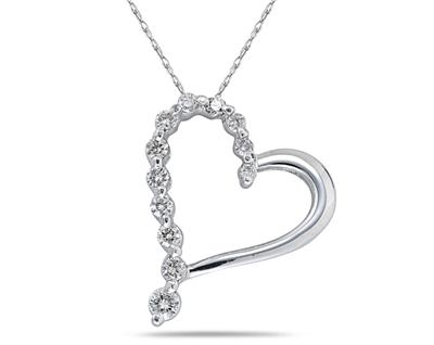 0.25 Carat Diamond Journey Heart Pendant