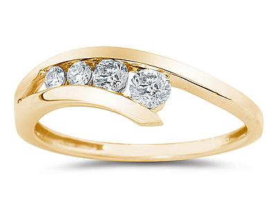 Buy Diamond Journey Ring In 14K Yellow  Gold