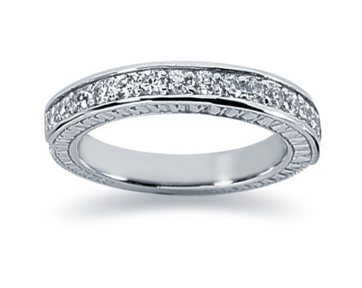 0.40 Carat Diamond Wedding Band in 18K White Gold