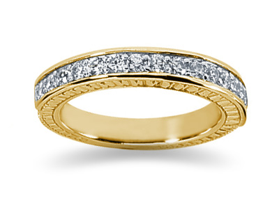 0.40 Carat Diamond Wedding Band in 18K Yellow Gold