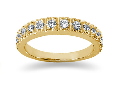 0.39 Carat Diamond Wedding Band in 18K Yellow Gold